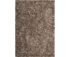 Lalee 347149575 Designer Hochflor Shaggy Teppich / Handarbeit / Uni / Weicher Langflor / Edel / Braun / Grösse : 160 x 230 cm