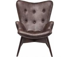 Sessel Angels Wings Dark Brown Econo, moderner TV Chillout Polstersessel mit Armlehne, Lounge XL Cocktailsessel im Retro-Vintage Design, dunkelbraun (H/B/T) 94x73x81cm