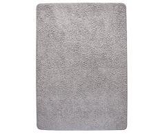 misento 292143 Hochflorteppich Shaggy, 160 x 230 cm, grau