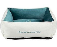 Trixie 38235 Bett Pets Home, 60 × 50 cm, creme/petrol