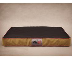HobbyDog Hundematratze Hundesofa Hundekorb Tierbett Verschiedene Größen und Farben (XL - 110cm x 90cm x 12cm, 4 - flok mit schwarz)