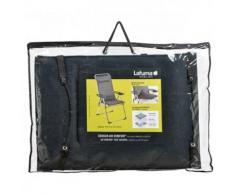 Lafuma gepolsterte Air Comfort Auflage für Hochlehner, Acier (Schwarz), LFM2660-7278