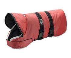 HUNTER Denali Reflect Hundemantel, Wintermantel, Fleecefutter, wasser- und windabweisend, reflektierend, 50, rot