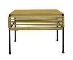 INNIT 08-01-14 Gold Weave Adam Ottomane mit Schwarzem Rahmen, Mehrfarbig, 20 x 16 x 15 cm