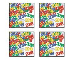 Beistle 50674–18, 4 Pakete Fanci Fetti 2018 Silhouetten, 0,5 Unzen in Paket, insgesamt 2 Unzen Konfetti in Paket