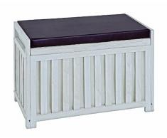 Haku-Möbel 26320 Bank 65 x 33 x 46 cm, weiß gewischt