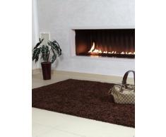 benuta Shaggy Hochflor Teppich Swirls Braun 160x230 cm | Langflor Teppich für Schlafzimmer und Wohnzimmer