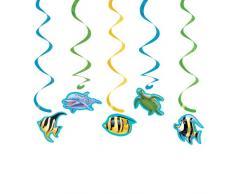 Creative Converting Ocean 5 zählen Dizzy Danglers hängende Dekoration Party