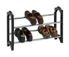 WENKO 4388400100 Schuhregal Flexiplus - ausziehbar, für 10 Paar Schuhe, verchromtes Metall, 61.5 x 43 x 18.5 cm, Chrom