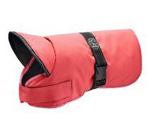 HUNTER Denali Hundemantel, Wintermantel, Fleecefutter, wasser- und windabweisend, reflektierend, 45, rot