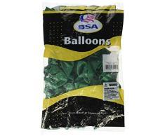 Pioneer Ballon Deep Jade BSA Latex Luftballons, 27,9 cm Multicolor