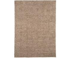 benuta Shaggy Hochflor Teppich Swirls Taupe 120x170 cm | Langflor Teppich für Schlafzimmer und Wohnzimmer