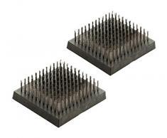 Landmann 13634 Pure Set 2 Bürsten zu Grill Stahl schwarz 9 x 10 x 3 cm