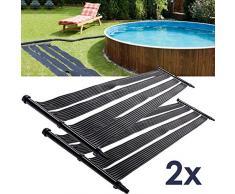 2x Nemaxx SH6000 Solarheater 6 m - Solar-Poolheizung, Solarheizung, Schwimmbecken Heizmatte, Swimmingpool Sonnenkollektor, Warmwasseraufbereitung, Heizung für Pool