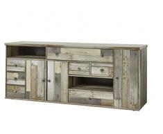 Stella Trading BZDDD01020 Kommode Anrichte Driftwood, Holz, braun, 194 x 80 x 49 cm