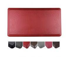 Cook N Home Anti Müdigkeit Premium Komfort Küche Fußmatte, 99,1 x 50,8 cm grau rot