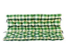 Ambientehome 3er Bank Sitzkissen und Rückenkissen Hanko, kariert grün, ca 150 x 98 x 8 cm, Bankauflage, Polsterauflage
