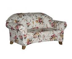 cavadore 2 sitzer maifayr wunderschn geblmtes sofa im landhausstil mit holzfen - Sofa Landhaus