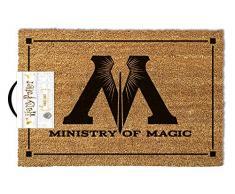 Harry Potter Fußmatte Ministry of Magic braun, aus Kokosfaser, Unterseite aus PVC.