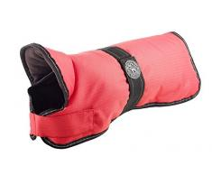 HUNTER Denali Hundemantel, Wintermantel, Fleecefutter, wasser- und windabweisend, reflektierend, 40, rot