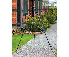 KORONO 5900105400031 Schwenkgrill am Dreibein 180 cm – Grillrost, Rohstal, 102 x 70 x 10 cm