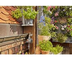 Gardena NatureUp! Bewässerungsset Ecke Wasserhahn: Bewässerungssystem für bis zu 12 Pflanzen, unsichtbare Bewässerung, Anschlussmöglichkeit für Bewässerungscomputer (13157-20)