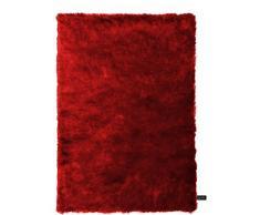 benuta Shaggy Hochflor Teppich Whisper Rot 160x230 cm | Langflor Teppich für Schlafzimmer und Wohnzimmer