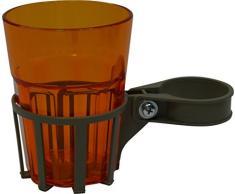 Angerer Getränkehalter für Hollywoodschaukel champagner, inkl. Becher orange, 972/0002