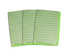 BAMBUS SHINE 3er SET 60 x 40 cm - Glastuch für Fenster, Spiegel und Glasgeschirr 60 x 40 cm Tuch - ABACUS