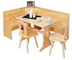 Inter Link Alpine Living Eckbank Gruppe Tisch Stühle Kücheneckbank Sitzbank Esszimmer Kiefer Massivholz Natur lackiert