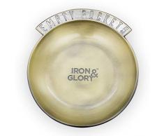 Iron and Glory IAGEP Taschengeld-Tablett – Nachttisch aus Metall für Wechsel, Schlüssel, Münzen, Schmuck, Uhr, Kopfhörer, Zinc