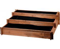 dobar Drei-Etagen Hochbeet Peru aus Holz (Kiefer): Tischbeet Bausatz für Gemüse, Kräuter, Blumen, flexibel platzierbar, braun, 110 x 88 x 36 cm, 58180FSC