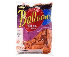 Luftballons, 28 cm, Orange, 100 Stück