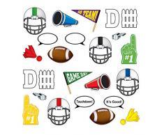 Beistle 54799 Football Photo Fun Party-Deko, Papier, mehrfarbig