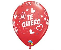 Qualatex Latex Luftballons 43417-q TE QUIERO Mix und Match Herzen, 27,9 cm farbenreiche
