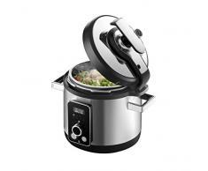WMF Perfect Multifunctional Cooker Elektrischer Schnellkochtopf, programmierbar, 8 Programme, schnelles und langsames Kochen, Kapazität 6 l, inkl. Rezept, 1100 W, Stahl
