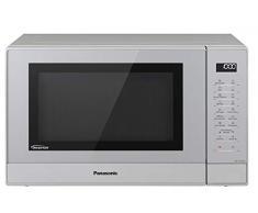 Panasonic NN-GT47KMGPG Kombi Mikrowelle (1000 Watt, mit Grill, Inverter Mikrowelle, 31 Liter) silber