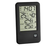 TFA Dostmann Malibu digitales Funk-Poolthermometer, 30.3053, für Schwimmbad und Teich, Taupunkt Höchst- und Tiefwerte