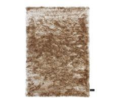 benuta Shaggy Hochflor Teppich Whisper Hellbraun 140x200 cm | Langflor Teppich für Schlafzimmer und Wohnzimmer