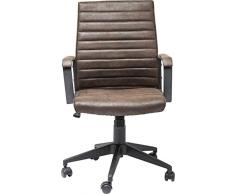 Kare Bürodrehstuhl Labora, moderner Designer Schreibtischstuhl mit Armlehnen und Gasdruckfeder, höhenverstellbar, Braun (H/B/T) 105x57x61cm