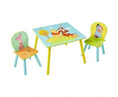 Winnie Puuh - Set aus Tisch und 2 Stühlen für Kinder