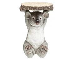 Beistelltisch Animal Koala, Ø33cm, kleiner, runder Couchtisch, Holzoptik, Tierfigur als ausgefallener Wohnzimmertisch, (H/B/T) 52x35x35cm