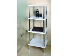 Haku-Möbel 90340 Regal 39 x 39 x 107 cm, chrom/weiß