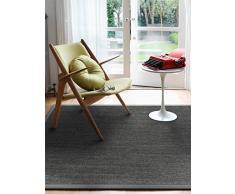 Benuta Sisal Teppich mit Bordüre Grau 140x200 cm   Naturfaserteppich für Flur und Wohnzimmer