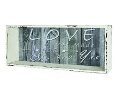 Haku-Möbel Wandregal, 12 x 50 x H: 25 cm, weiß gewischt-vintage