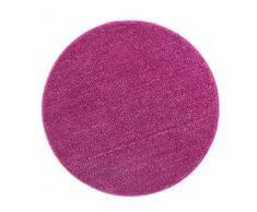 Andiamo Microfaser Badematte-Badteppich-Verschiedene Farben und Größen-Oeko-Tex 100-Badvorleger Rund, Polyester, Lila, 80 x 80 x 0,8 cm