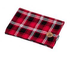 Petface Schmusetuch für Hunde, kariert, Fleece, Rot