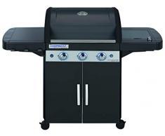 Campingaz Gasgrill 3/4 Series Classic EXSE, BBQ Grillwagen mit 3/4 Edelstahlbrennern und Seitenkocher, Standgrill mit Deckel und Thermometer, InstaClean Reinigungssystem und Culinary Modular System