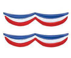 Beistle Teppich Läufer, rot / weiß / blau
