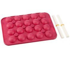 Birkmann 250550 CakePop Baker Backform, Silikon, pink, 27
